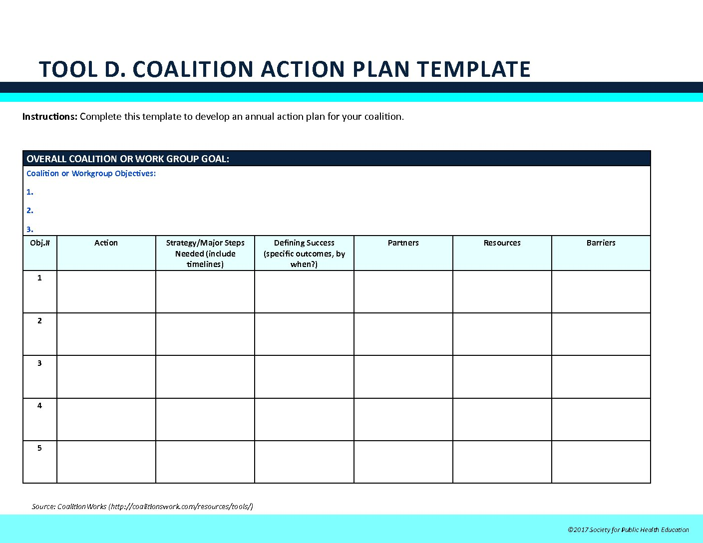recovery action plan template - easy action plan worksheet