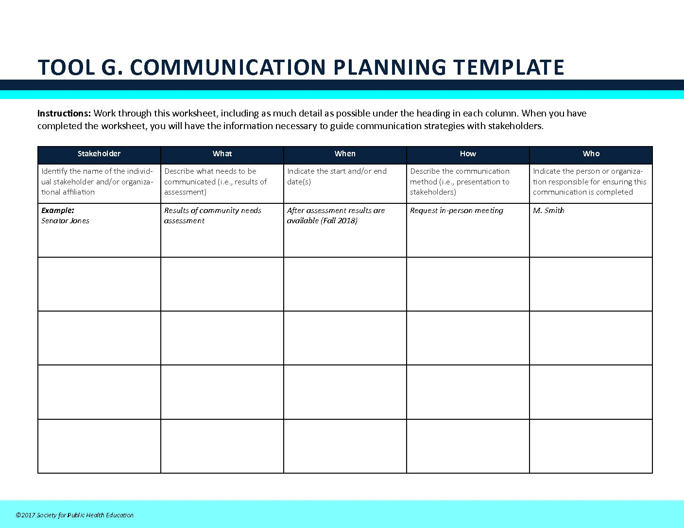 Toolkit sustainability partnering4health tool gcommunication planning template pronofoot35fo Gallery
